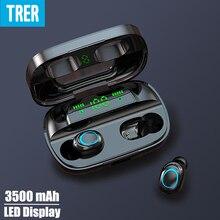 TRER In Ear Ohrhörer Kopfhörer TWS 5,0 Bluetooth Kopfhörer LED Digital Display Fone Dynamische Bass Sound écouteur auriculares cuffie