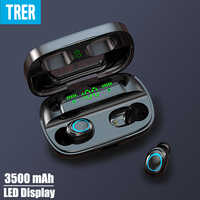 TRER auriculares In-ear auriculares TWS 5,0 auriculares Bluetooth pantalla Digital LED Fone sonido bajo dinámico ecouteur auriculares cuffie