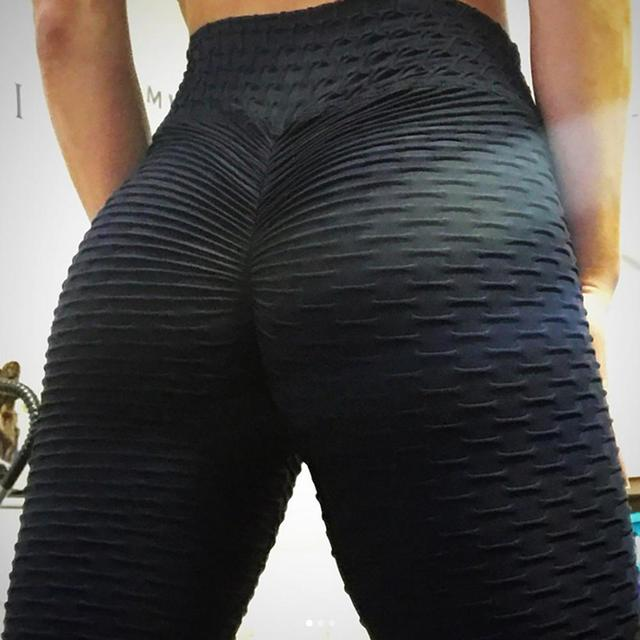 New Solid Sexy Push Up Leggings Women Fitness Clothing High Waist Pants Female Workout Breathable Skinny Black Leggings 1