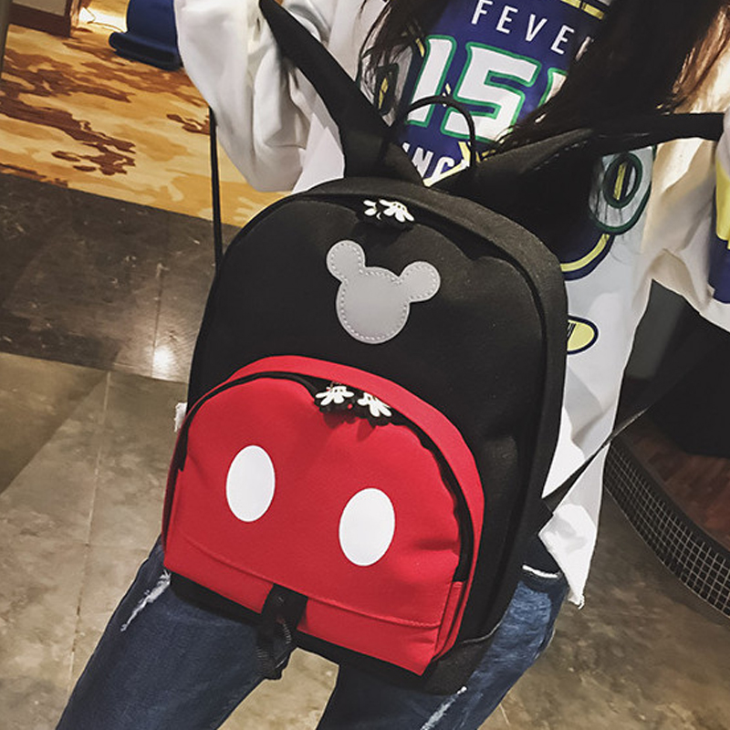 2019 Disney Kids Backpack New Mickey Mouse School-Bag Children Girls Boys Backpacks Polyester Cute Cartoon Kindergarten Bags