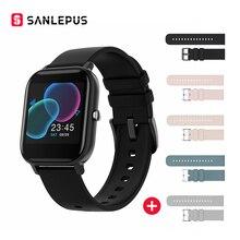 SANLEPUS pełnoekranowy dotykowy pasek do smarwatcha mężczyźni kobiety Sport zegarek twarz pulsometr pomiar podczas snu IP67 Smartwatch