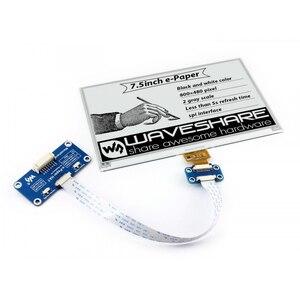 Дисплей Waveshare 840*480, экран 7,5 дюймов для электронных чернил Raspberry Pi 2B/3B/Zero W, два цвета: черный, белый, интерфейс SPI, без подсветки