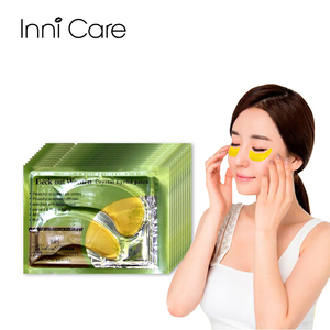 10Pairs=20Pcs Gold Crystal Collagen Gold Powder Eye Mask Crystal Eye Mask For Eye Patches Face Care Cosmetics Eyelid Patch