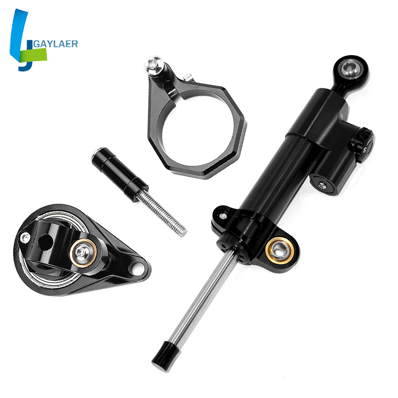 CNC Steering Damper Mounting Bracket Kit for <font><b>Suzuki</b></font> GSXR600 <font><b>GSX</b></font> R <font><b>600</b></font> 2006-2010 2009 <font><b>2008</b></font> 2007 image