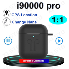 New i90000 pro tws 1:1 Blutooth Earphones 8D Stereo Earbuds with GPS Rename Head