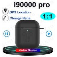 Nowy i90000 pro tws 1:1 bluetooth słuchawki 8D słuchawki stereo z GPS zmień nazwę zestawy słuchawkowe ładowanie wireless PK I12 i200 i9000 i500 tws