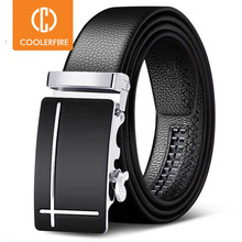 Men Belts Automatic Buckle Belt Genune Leather High Quality Belts For Men Leather Strap Casual  Buises  for Jeans