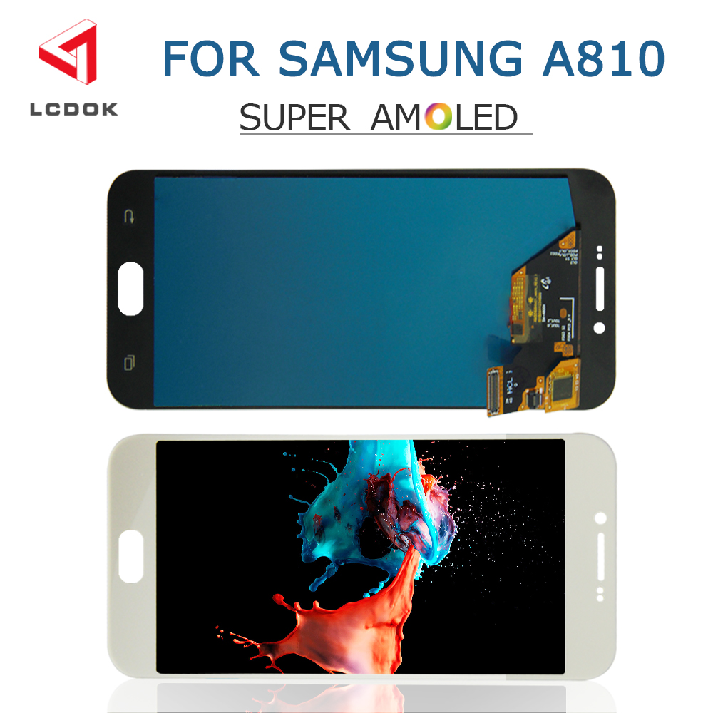 Super AMOLED LCD For Samsung Galaxy A8 2016 A810 A810F A810DS A8100 LCD Display Touch Screen Digitizer Assembly Panel Pantalla