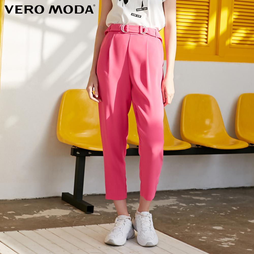 Vero Moda Women's OL Style Mid-rise Crop Pants | 319250503
