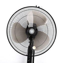 1 noir 16 pouces ménage ventilateur lame à faible bruit en plastique trois feuilles avec couvercle d'écrou pour support/Table Fanner général ventilateur accessoires