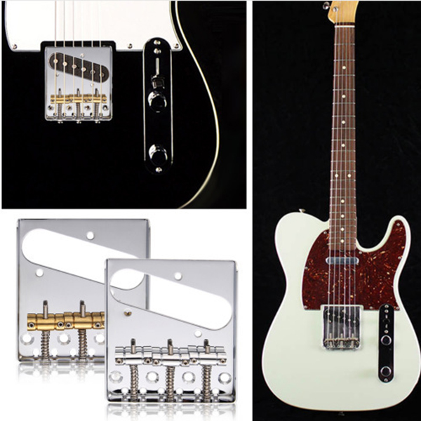 Vintage <font><b>Tele</b></font> Ashtray Style Electric <font><b>Guitar</b></font> Bridge 6 <font><b>Saddles</b></font> for <font><b>Telecaster</b></font> <font><b>Guitars</b></font> Accessories BB55 image