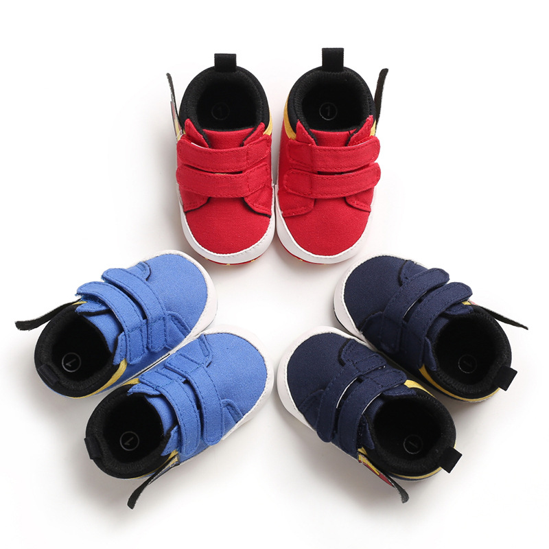 2019 New Spring And Autumn 0-1 Years Old Male Baby Boy Canvas Shoes Soft Bottom Non-slip Baby Toddler Shoes Infant First Walkers