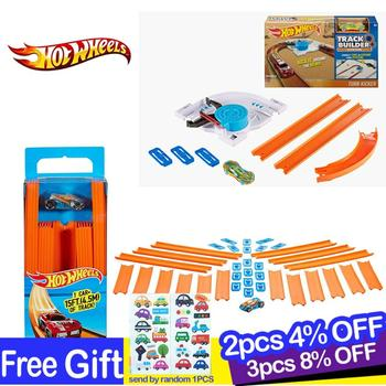 Hot Wheels New Track Toy Builder Straight With Diecast Car Connect with Other hotwheels  Brinquedo pista BHT77For Gif
