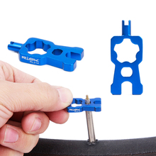 4 In 1 Bicycle Valve Tools Spanner Wrench Multi-Function Schrader/presta Valve Core Disassembly Installation Tool MTB Road Bike mtb road bike bicycle sprocket nut chain wrench crankcase disassembly spanner chainwheel dismounting tool