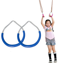 Kinderen Trapeze Bar Pull Up Gym Ringen Handdruk Ijzer Plastic Fitness Sport Pull-Ups Pull Ring Speeltuin Thuis Swing apparatuur(China)