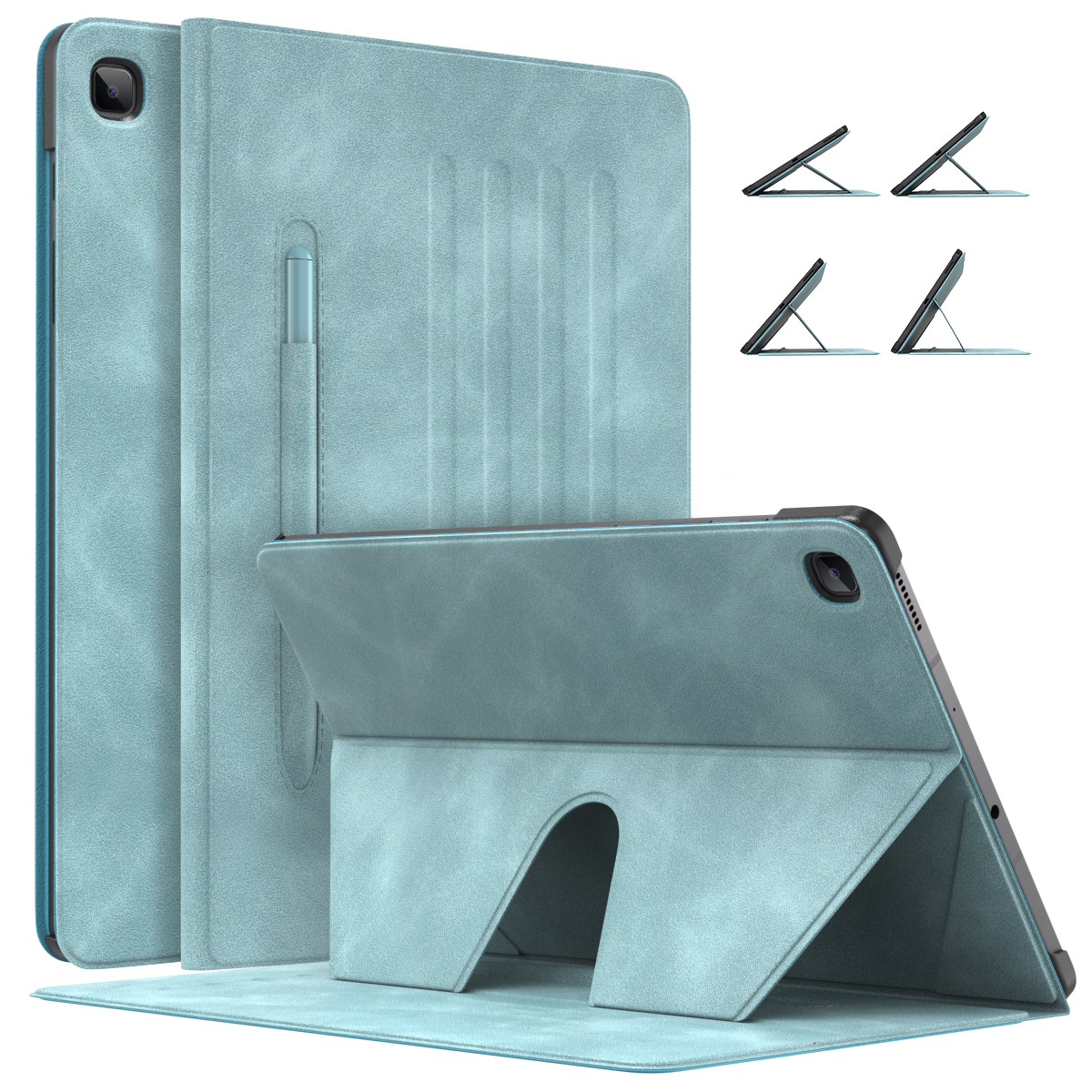 Tablet Case for Galaxy Tab S6 Lite 2020,Slim Smart Cover Shell Case with Auto-Wake/Sleep&Pen Holder& Multi-Angle Stand  S6 Lite