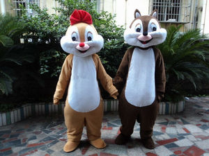Chip And Dale Squirrel Mascot Costume Animal Cartoon Anime Cosplay Adults Cosplay Fancy Dress Outfit Parade Clothing Halloween #