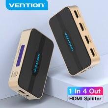 Intervento HDMI Splitter 1 In 4 Out HDMI Switch 4K HDCP 2.0 HDMI 1x2 1x4 con adattatore di Alimentazione Alimentazione per Xbox PS4 TV HDMI Switcher