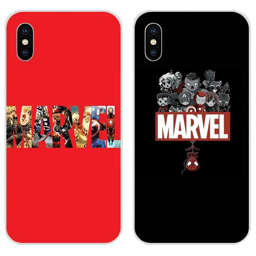 Cartoon Comic Marvel Logo Poster TPU Capa Case For Huawei Honor 4C 5A 5C 5X 6 6A 6X 7 7A 7C 7X 8 8C 8S 9 10 10i 20 20i Lite Pro
