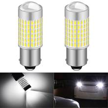 2x T20 T25 1156 P21W BA15S coche Luz de marcha atrás LED Bombilla W16W 921 T15 de lámpara para Peugeot 307, 206, 308, 407, 207, 3008, 2008, 406, 208