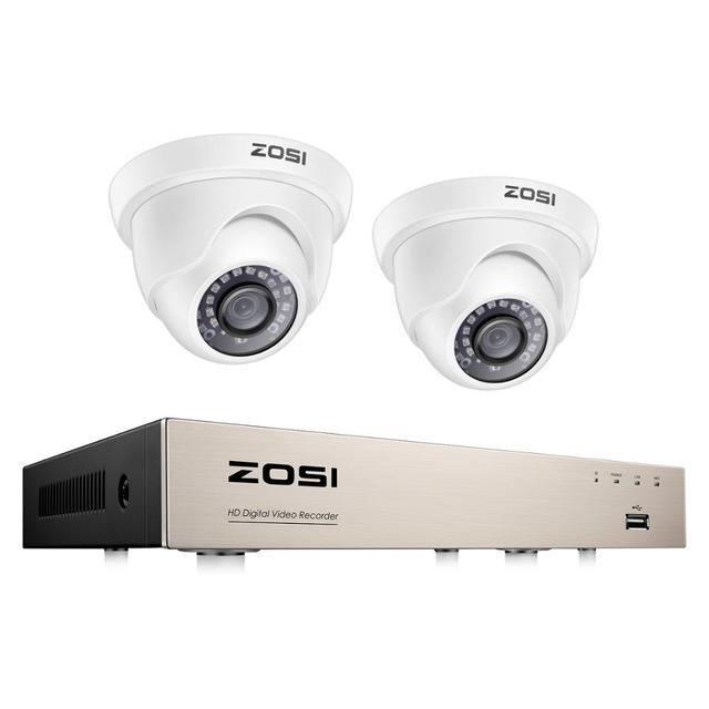 ZOSI 1080P CCTV מצלמה מערכת 4CH 1080P DVR מערכת עם 2x חיצוני 2MP וידאו אבטחת מצלמות 2CH בית מעקב מצלמה קיט