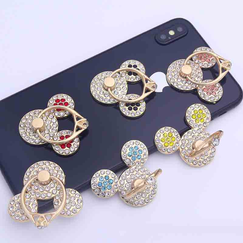 Universal Mobile Phone Holder Cartoon Mickey Phone Ring Holder Cell Phone Stand Finger Ring Holder Soporte Celular For IPhone