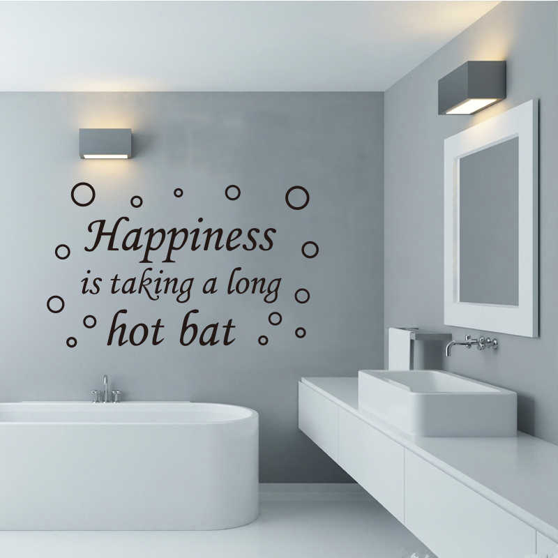 Bathroom Shower Room Vinyl Wall Sticker Happiness Bath Bubble Mural Wall Sticker Home Decoration Decorative Wall Art Dd0759 Wall Stickers Aliexpress