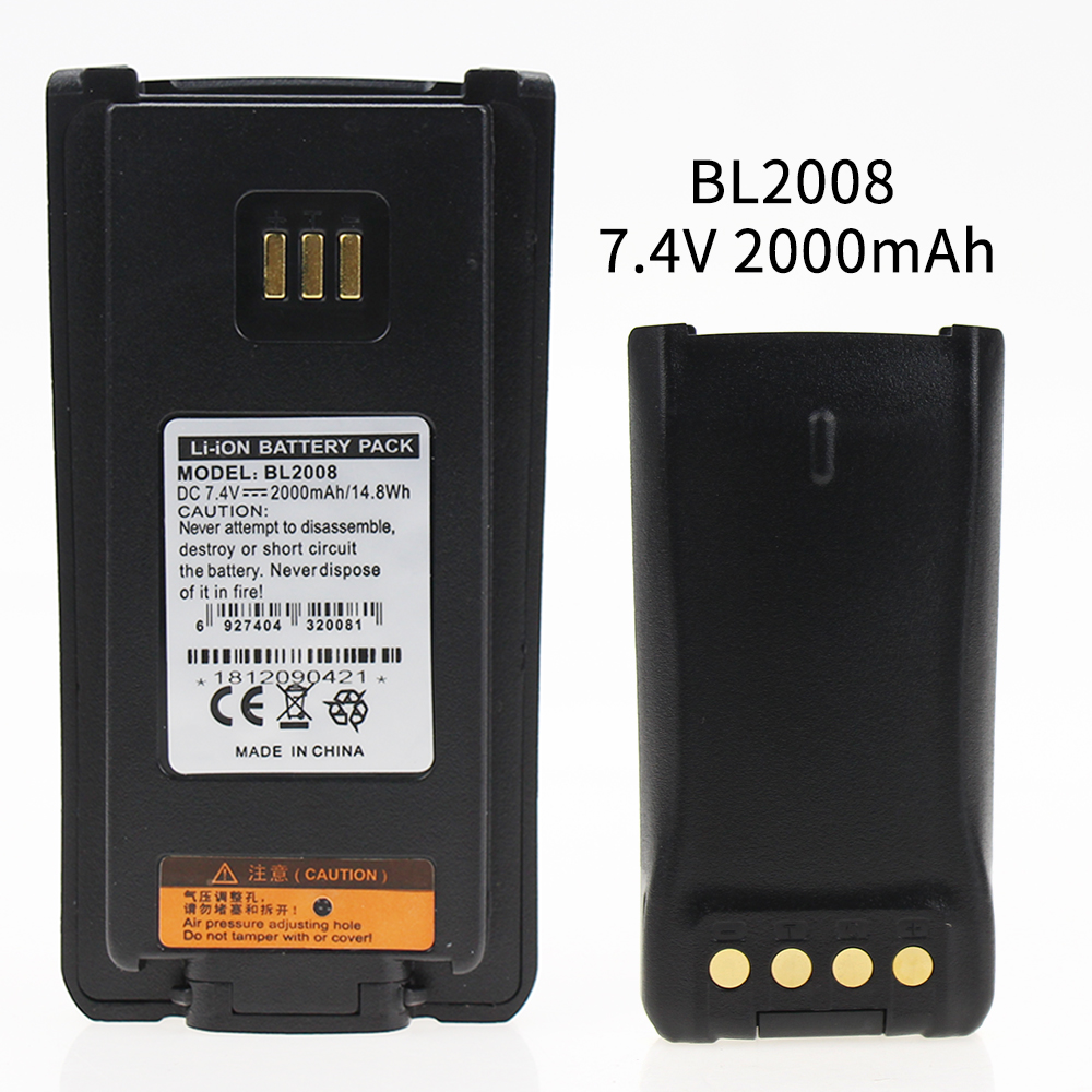 High Quality BL2008 7.4V 2000mAH LI-ON Battery For Hytera HYT Radio PD700 PD780 PD880 PD980 Walkie Talkie