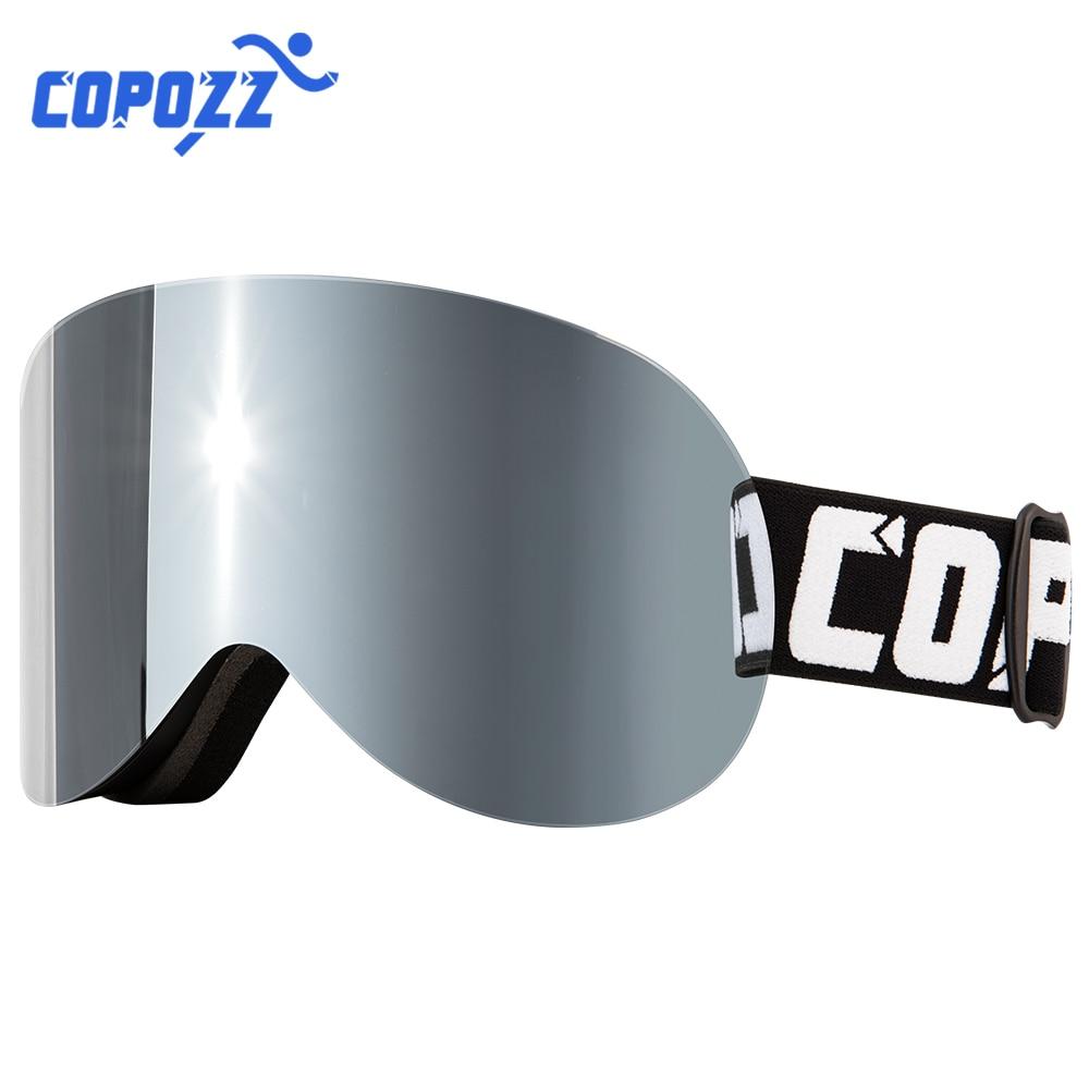 COPOZZ Ski Googles Snowboard Ski Glasses Men Women Anti-fog Cylindrical Snow Ski Goggles UV Protection Winter Sports Gafas Ski