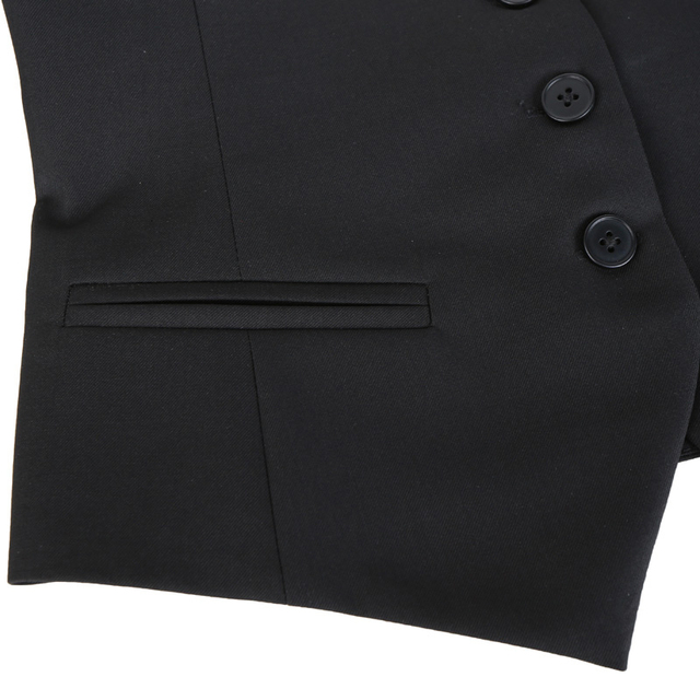 [EAM] Women Black Button Split Joint Asymmetrical Loose Fit Vest New Sleeveless   Fashion Tide Spring Autumn 2021 1K371 5