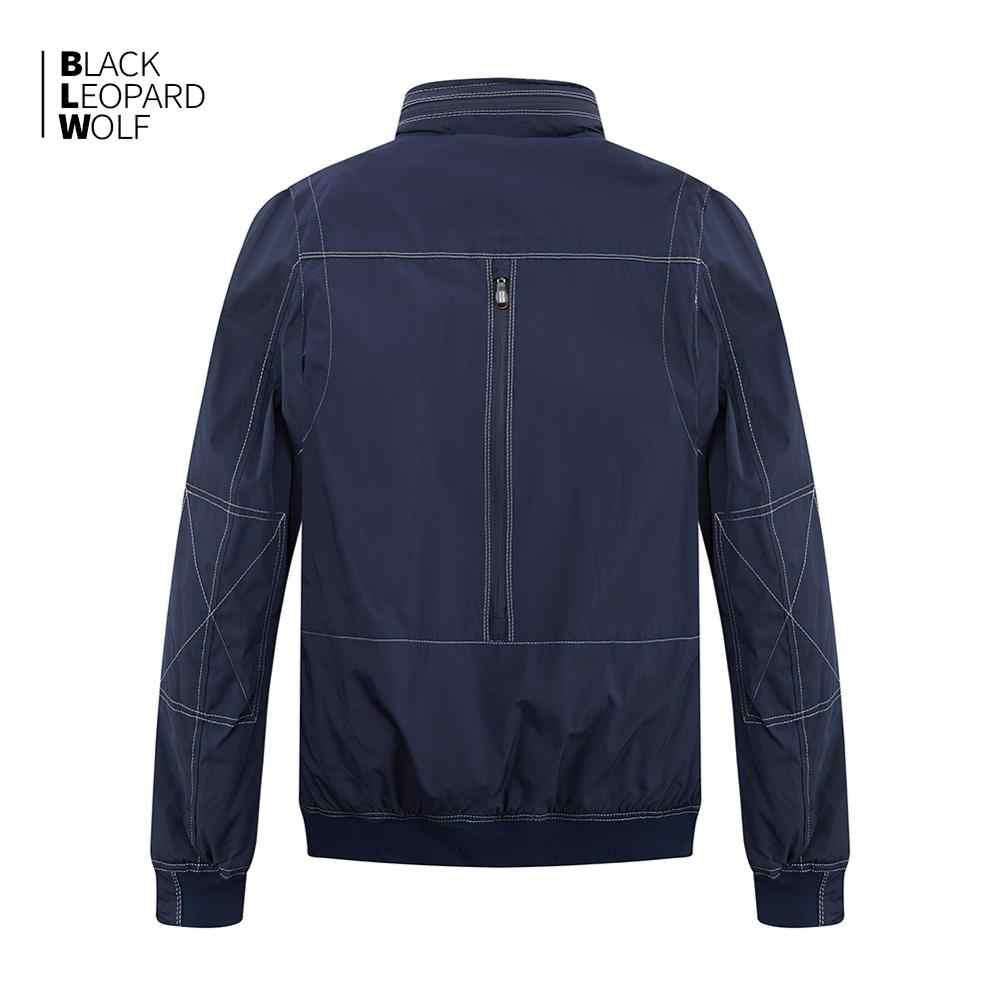 Blackleopardwolf 2019 새로운 도착 봄 코트 남자 고품질 인과 파커 짧은 스타일 다운 재킷 얇은 면화 MC-17065