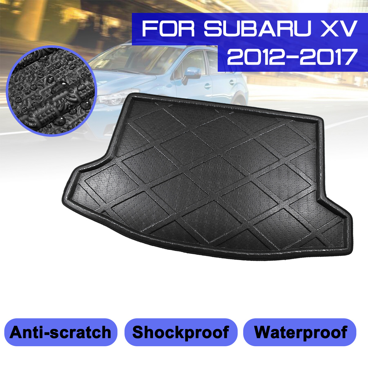 Rubber Car Boot Mat Liner Pet Cover Protector For Dacia Sandero Stepway 2014 On
