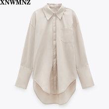 Xnwmnz za Женская Повседневная рубашка с воротником длинным