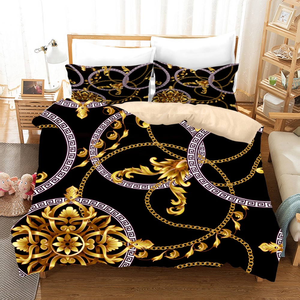3D Printed Duvet Cover, Soft Single Double Bed Full Size Bedding, Stylish Pattern Simple Bed Sheet Pillowcase Luxury Bedding3pcs