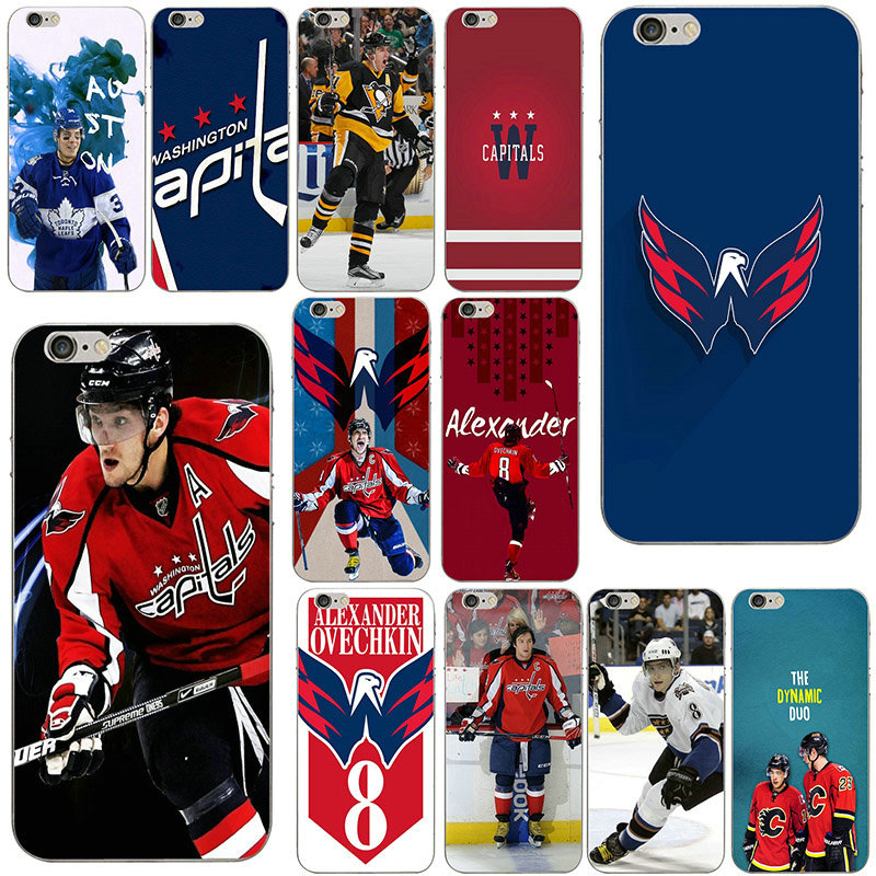 Hot Alexander Ovechkin Hockey Soft TPU Silicone Transparent Phone Cases Cover for iPhone 7 6 6s Plus X SE 4s 5 5s 5c Coque Shell(China)