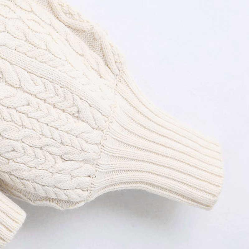 여성 캐주얼 니트 터틀넥 스웨터 여성 세련된 랜턴 슬리브 프릴 풀오버 스위트 레이디 트위스트 스웨터 세련된 솔리드 점퍼