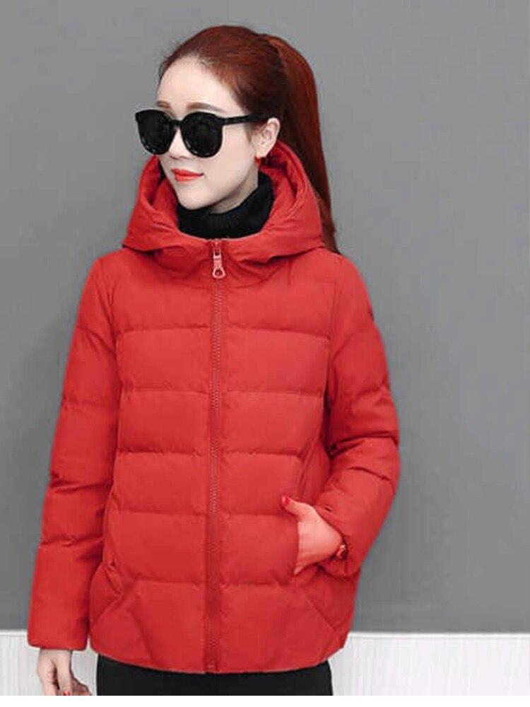Plus size women winter jacket cotton loose short parkas women outwear designer warm hooded female coat jaqueta feminina DR1192 (4)