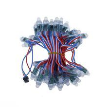 Dc5v dc 12v 12mm led ws2811 pixel módulo 50 nó/corda rgb digital completa cor impermeável ip68 led corda para letras sinal