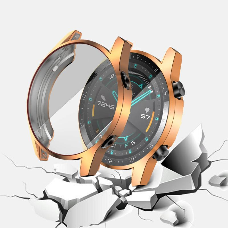 Watch Case For Huawei Watch GT 2 46mm Case Soft Silicone TPU Protective Watch Cover Protector Sleeve Frame For Huawei GT 2 46mm