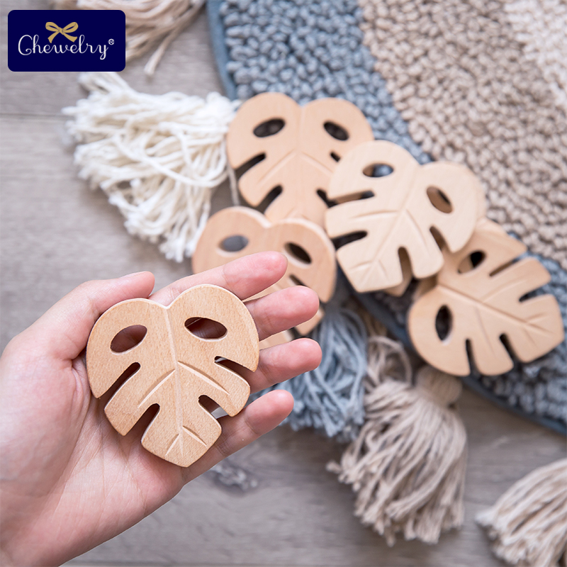 Nursing Beech Wooden Teether Turtle Leaves Animal Rodent Diy Jewelry Accessories Wood Pendant Play Gym Baby Wooden Toys Teether