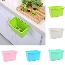 Kitchen Cabinets Door Plastic Basket Hanging Trash Can Waste Bin Garbage Bowl Box 2020(China)