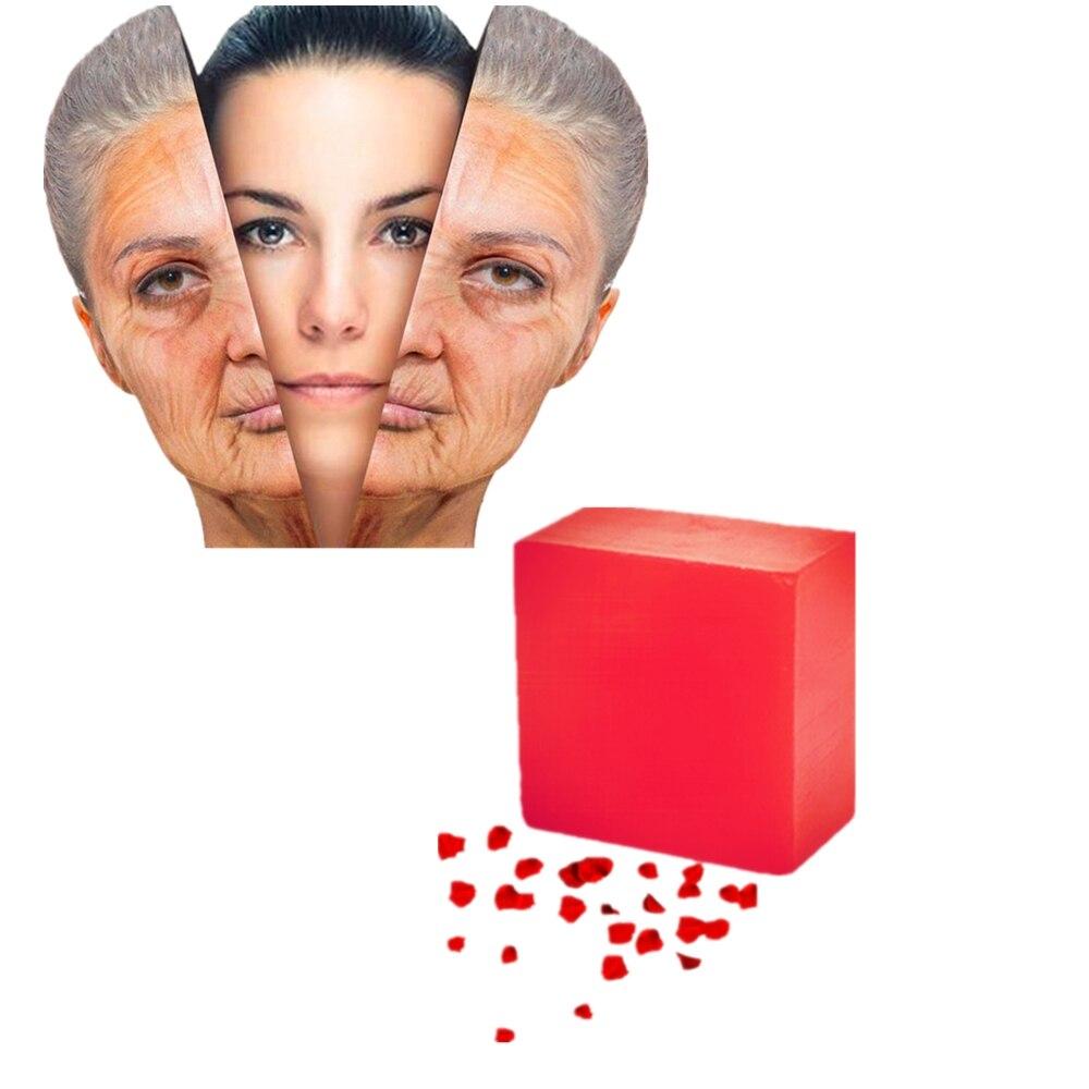 Handmade Rose Fragrance Soap Natural Rose Essence Fragrance Oil Soaps Skin Nose Whitening Blackhead Remover Soap Acne Treatment