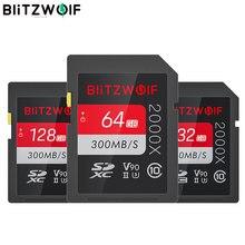 BlitzWolf BW-SDC1 UHS-II SD Memory Card U3 C10 V90 32GB 64GB 128GB Data Storage Card for 4K 8K MILC SLR Camera Driving Recorder