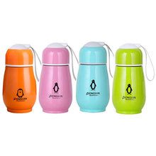 Outdoor Travel Vacuum Cup Stainless Steel Student Water Bottle Mini Vacuum Flask Cute Cartoon Penguin Rabbit Children Cups(China)