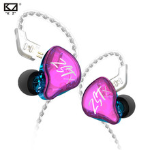 In-Ear Earphones Headset Earbud Silver-Plated-Cable HIFI ZSN KZ ZST Sports Bass