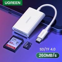 UGREEN USB tipo C lector de tarjeta SD TF Micro SD 4,0 UHS-II USB-C 3,1 OTG adaptador de lector de tarjeta de memoria para iPad Air, iPad Pro 2018/2020 MacBook