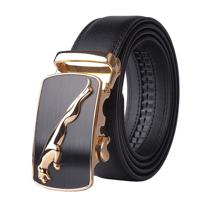 2020 Top Quality Strap Male Metal Automatic Buckle Famous Brand Belt Men  Genuine Luxury Leather Belts For Men