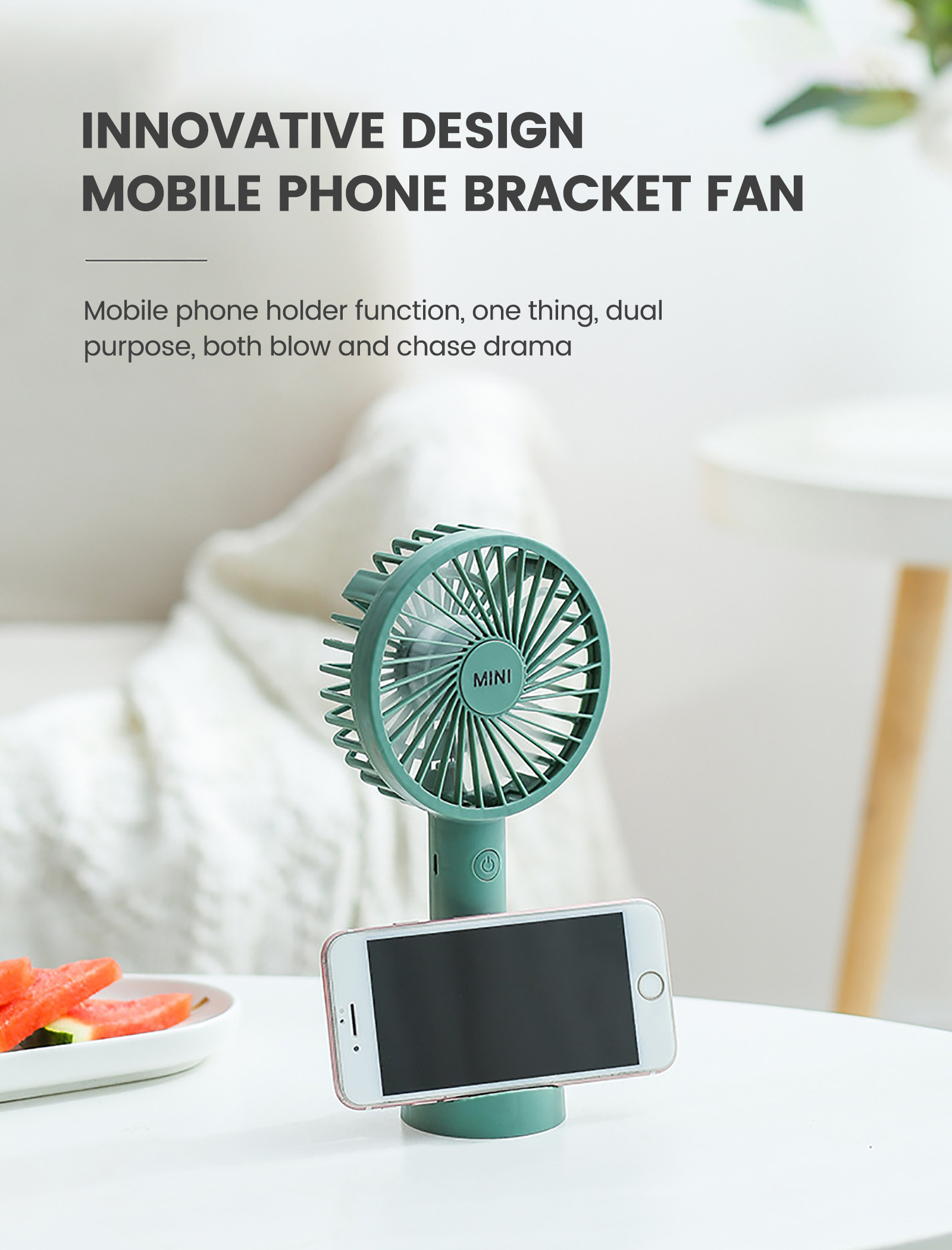 Handheld Fan With Phone Holder 3 Speed Mini Hand Held Fan With Usb Rechargeable Battery Portable Makeup Eyelash Fan With Base