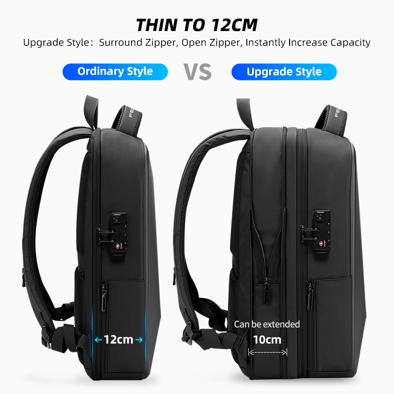 Fenruien Brand Laptop Backpack Anti-theft Waterproof School Backpacks USB Charging Men Business Travel Bag Backpack New Design 3