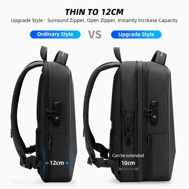 Fenruien marca portátil mochila anti-roubo à prova dusb água mochilas escolares carregamento usb saco de viagem de negócios mochila novo design 3